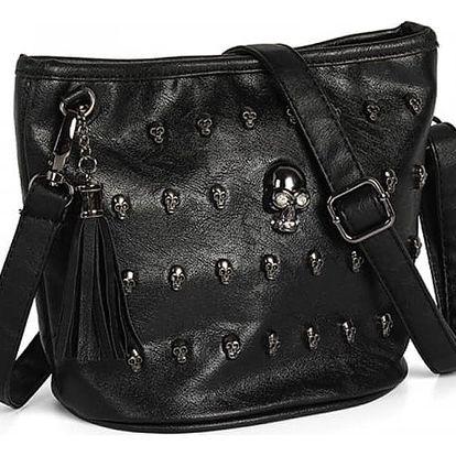 Dámská taška přes rameno s lebkami