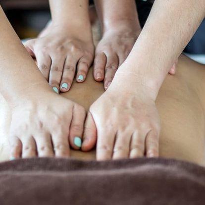 """Snové hýčkání: olejová masáž """"Čtyři ruce"""""""