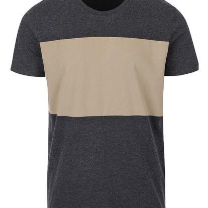 Béžovo-šedé triko Selected Homme Storm
