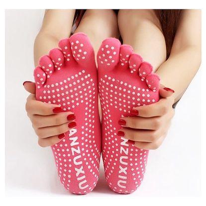 Prstové ponožky na cvičení - růžová - dodání do 2 dnů
