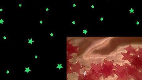 Svítící hvězdy růžové 3 x 3 cm