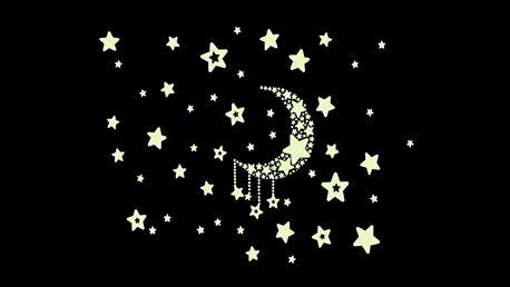 Svítící hvězdičky a měsíc 21 x 25 cm