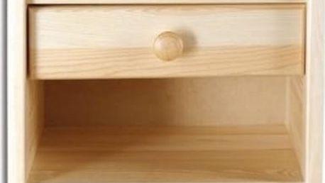 Noční stolek SN107 masiv borovice