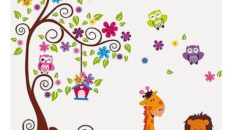 Strom a zvířátka 230 x 150 cm