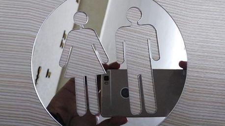 Nalepte.cz Zrcadlové WC postavičky 10 x 10 cm