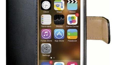 CELLY Wally pouzdro pro Apple iPhone 5/5S/SE, černá - WALLY185