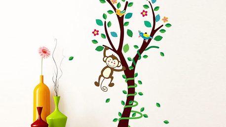 Malý strom s opičkou 40 x 89 cm