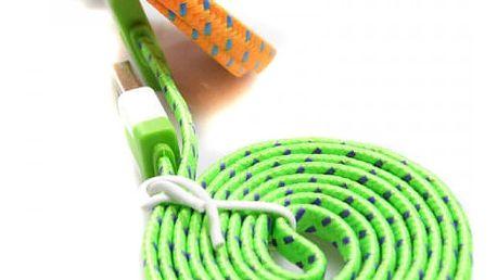 Pletený plochý kabel pro iPhone 4/4S (různé barvy a délky)