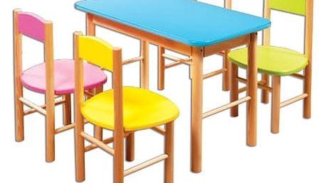 Dětský barevný stoleček AD252 zelená