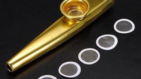 Hudební nástroj kazoo s náhradními membránami