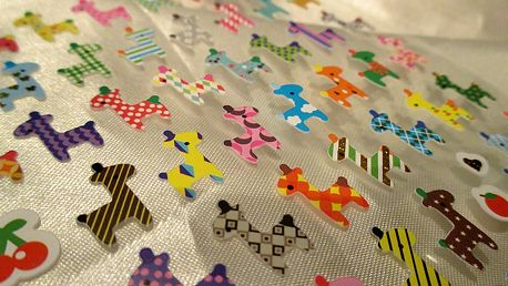 Nalepte.cz Mini žirafky 9,5 x 17,5 cm