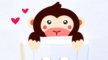 Opička na vypínač 8 x 4 cm
