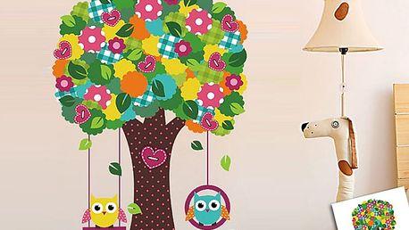 Barevný strom pro děti 64 x 97 cm