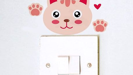 Barevná kočka na vypínač 8 x 4 cm
