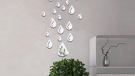 Nalepte.cz Zrcadlové kapky 10 x 13,5 cm