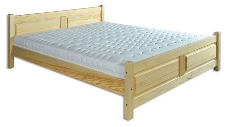 Dřevěná postel 140x200 LK115 borovice