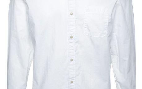 Bílá pánská slim fit košile s jemným vzorováním s.Oliver