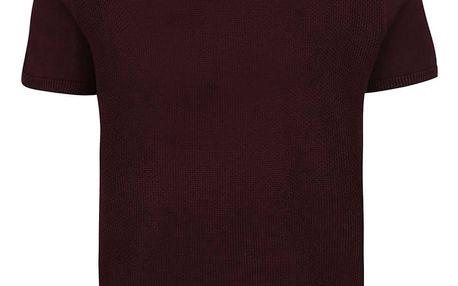 Vínové triko Burton Menswear London
