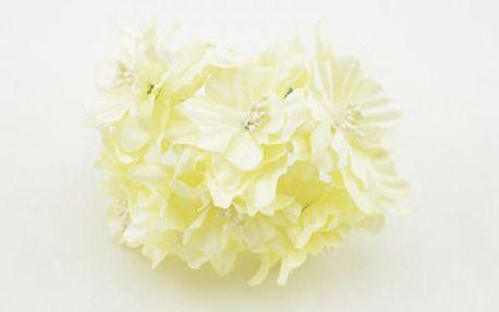 Květiny umělé na výzdobu - 6 ks