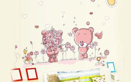 Medvídci a květiny 140 x 80 cm