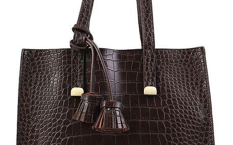Fashion Icon Dámská kabelka Crocodile Skin s třásněmi