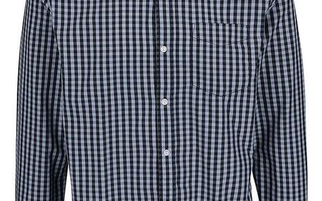 Modrá kostkovaná košile s dlouhým rukávem Shine Original