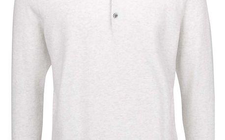 Béžové polo triko s dlouhým rukávem Burton Menswear London