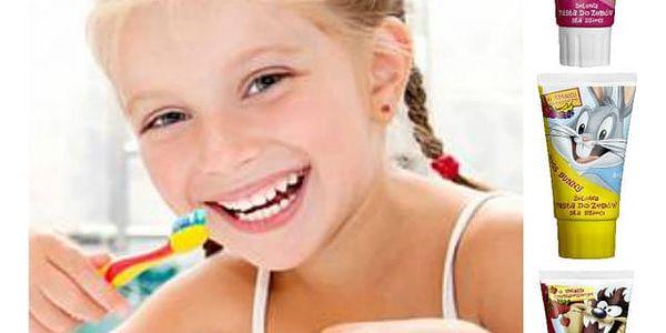 Dětská zubní pasta Looney Tunes s ovocnými příchutěmi - VÝPRODEJ