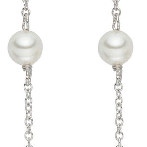 Perlové visící náušnice se zirkonem Pearls Of London Elegance, 5,4cm