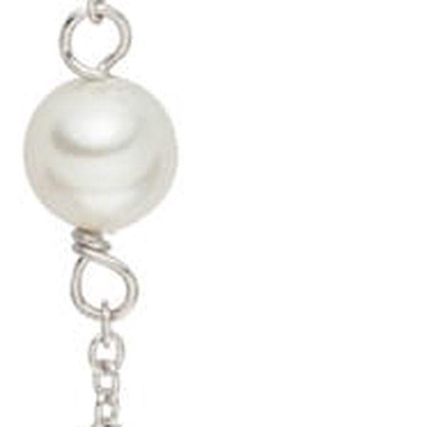 Perlové visící náušnice se zirkonem Pearls Of London Elegance, 5,4cm2