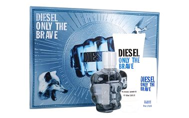 Diesel Only The Brave EDT dárková sada M - EDT 75 ml + sprchový gel 100 ml + sprchový gel 50 ml
