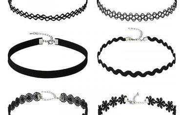 Černé choker náhrdelník
