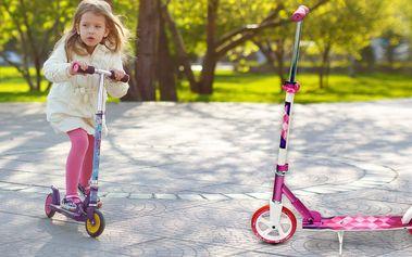 Dívčí skládací koloběžka Crane s velkými kolečky