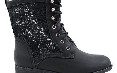 Kotníkové boty s krajkou 67522B 39