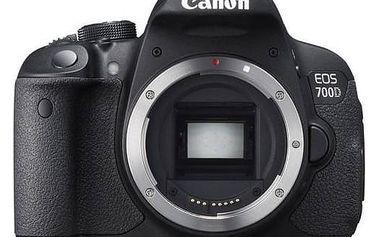 Digitální fotoaparát Canon EOS 700D, tělo (8596B023) černý + Doprava zdarma
