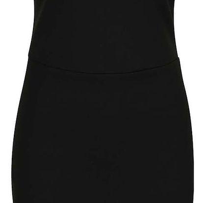 Černé šaty s modrým detailem v dekoltu Miss Selfridge
