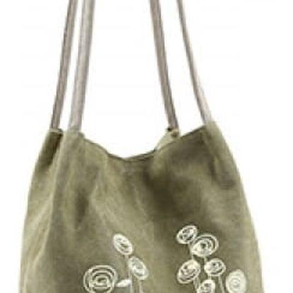 Plátěná taška přes rameno s jemným květinovým motivem - 5 barev
