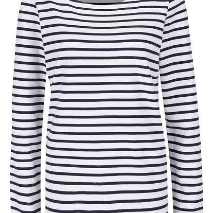 Modro-bílé pruhované tričko Maison Scotch