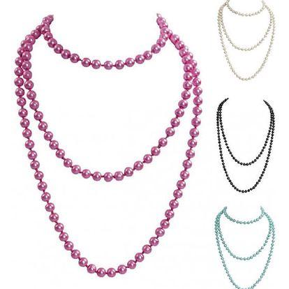 Dlouhý korálkový náhrdelník Elegance