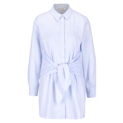 Modro-bílá dlouhá košile Miss Selfridge
