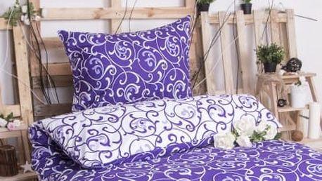 XPOSE ® Bavlněné povlečení ELIZABETH DUO - fialová 140x200, 70x90