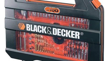 Sada vrtáků a bitů Black-Decker A7154 černé/stříbrné + Doprava zdarma