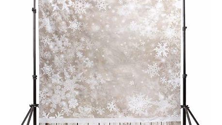 Ateliérové fotopozadí 2,1 x 1,5 m - Stěna z vloček a dřevěná podlaha