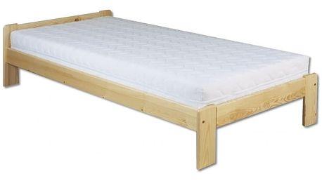 Dřevěná postel 90x200 LK123 dub