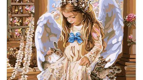 Bezrámový obraz s andělem