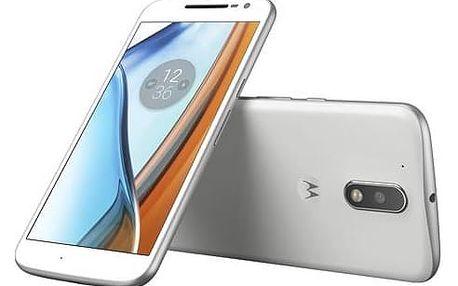 Mobilní telefon Lenovo Moto G4 Dual SIM (SM4374AD1N7) bílý SIM s kreditem T-Mobile 200Kč Twist Online Internet (zdarma)Software F-Secure SAFE 6 měsíců pro 3 zařízení (zdarma) + Doprava zdarma