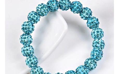 Náramek z barevných korálků se zirkony