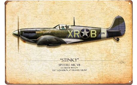 Plechová cedule - Spitfire - dodání do 2 dnů