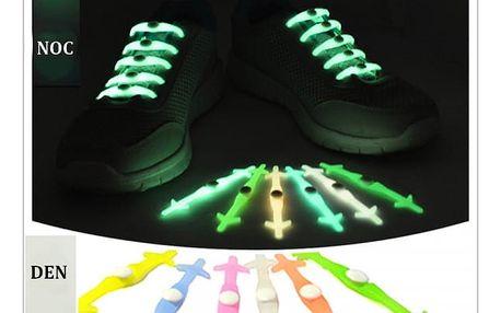 Silikonové tkaničky pro lenochy svítící ve tmě - dodání do 2 dnů