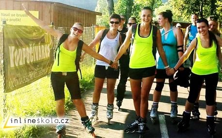 Intenzivní kurz bruslení v Praze na Letné pro 1 začátečníka v délce 2 a půl hodiny